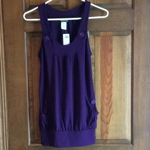 NWT Wet Seal Button Strap Tank